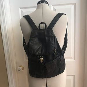 DKNY vintage 90''s leather backpack